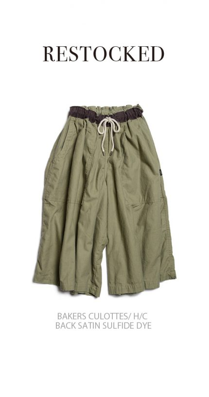BAKERS CULOTTES/ H/C BACK SATIN SULFIDE DYE/RESTOCKED