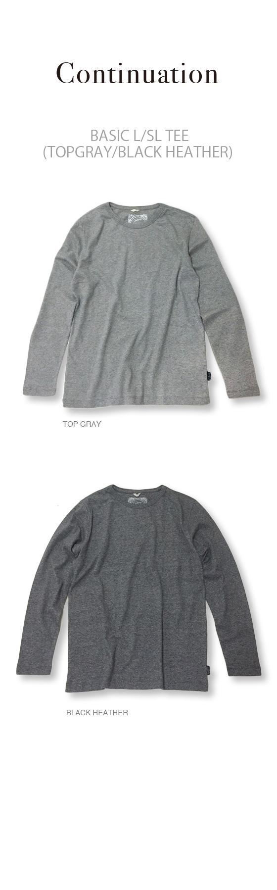 BASIC L/SL TEE/(TOPGRAY/BLACK HEATHER)