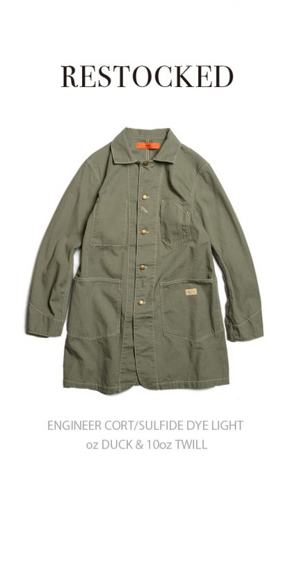 ENGINEER CORT/SULFIDE DYE LIGHT oz DUCK & 10oz TWILL/RESTOCKED
