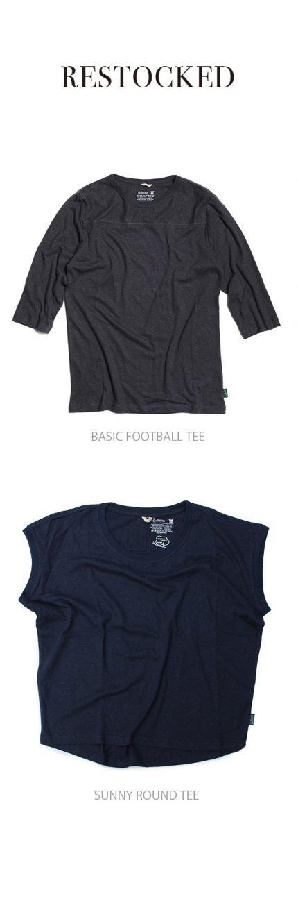 BASIC FOOTBALL TEE / SUNNY ROUND TEE