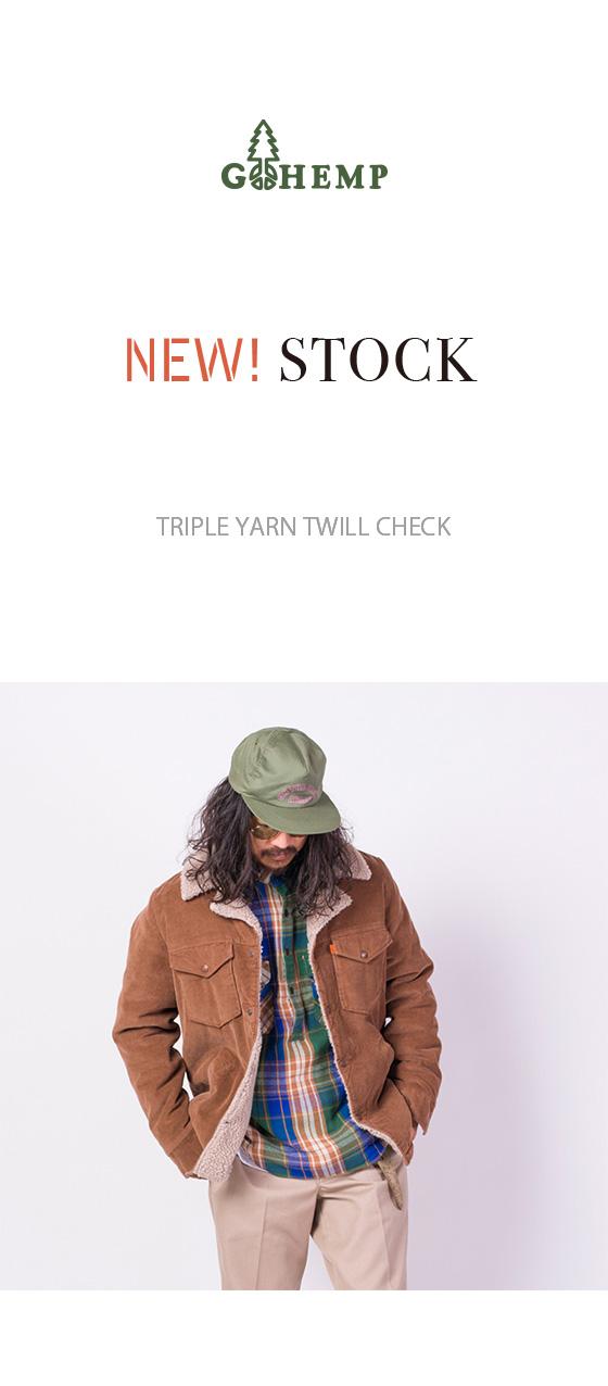 TRIPLE YARN TWILL CHECK