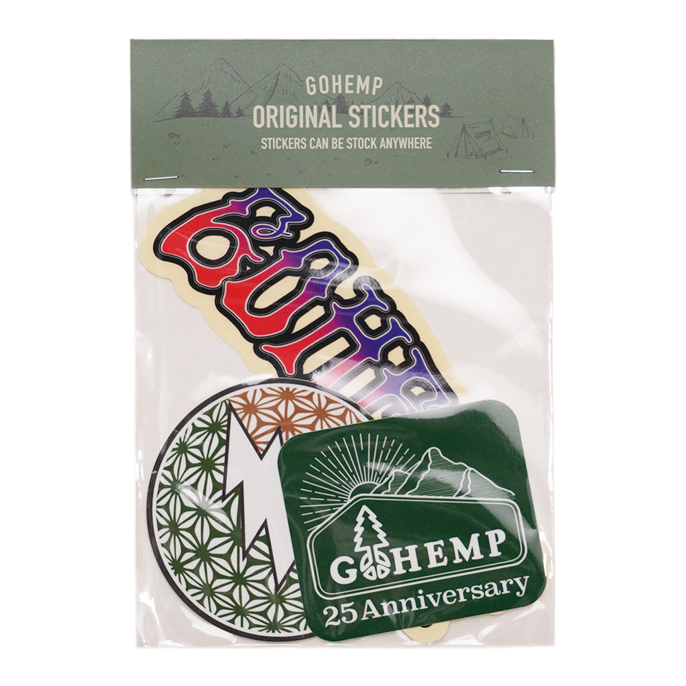 NEW!! GOHEMP ORIGINAL STICKERS PACK