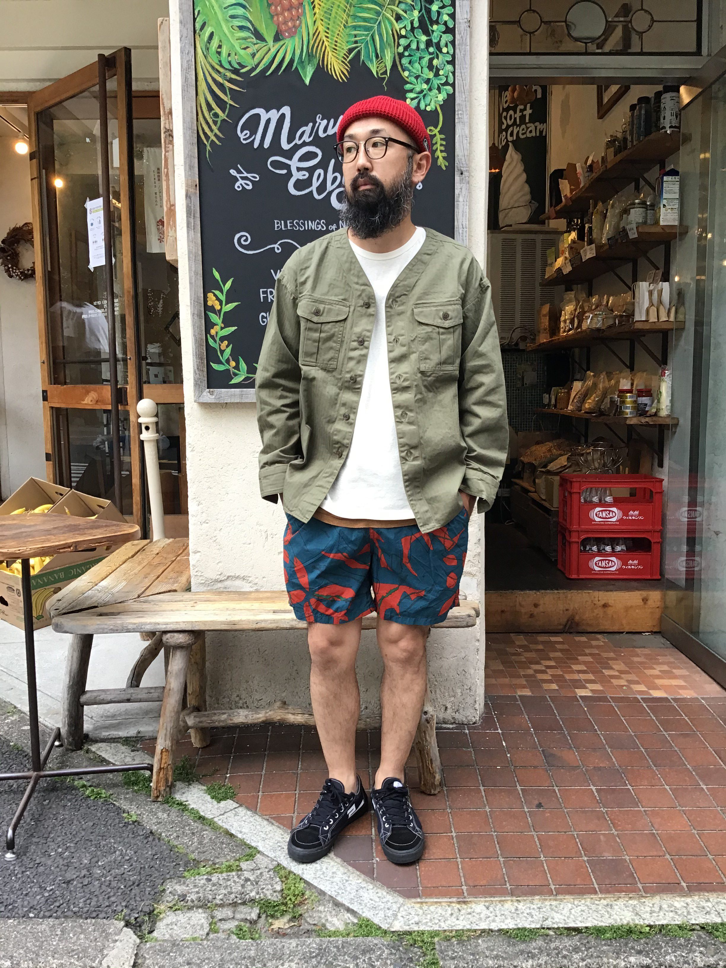 "Styling""WIDE BS SHIRTS/US ARMY HERRINGBONE"""