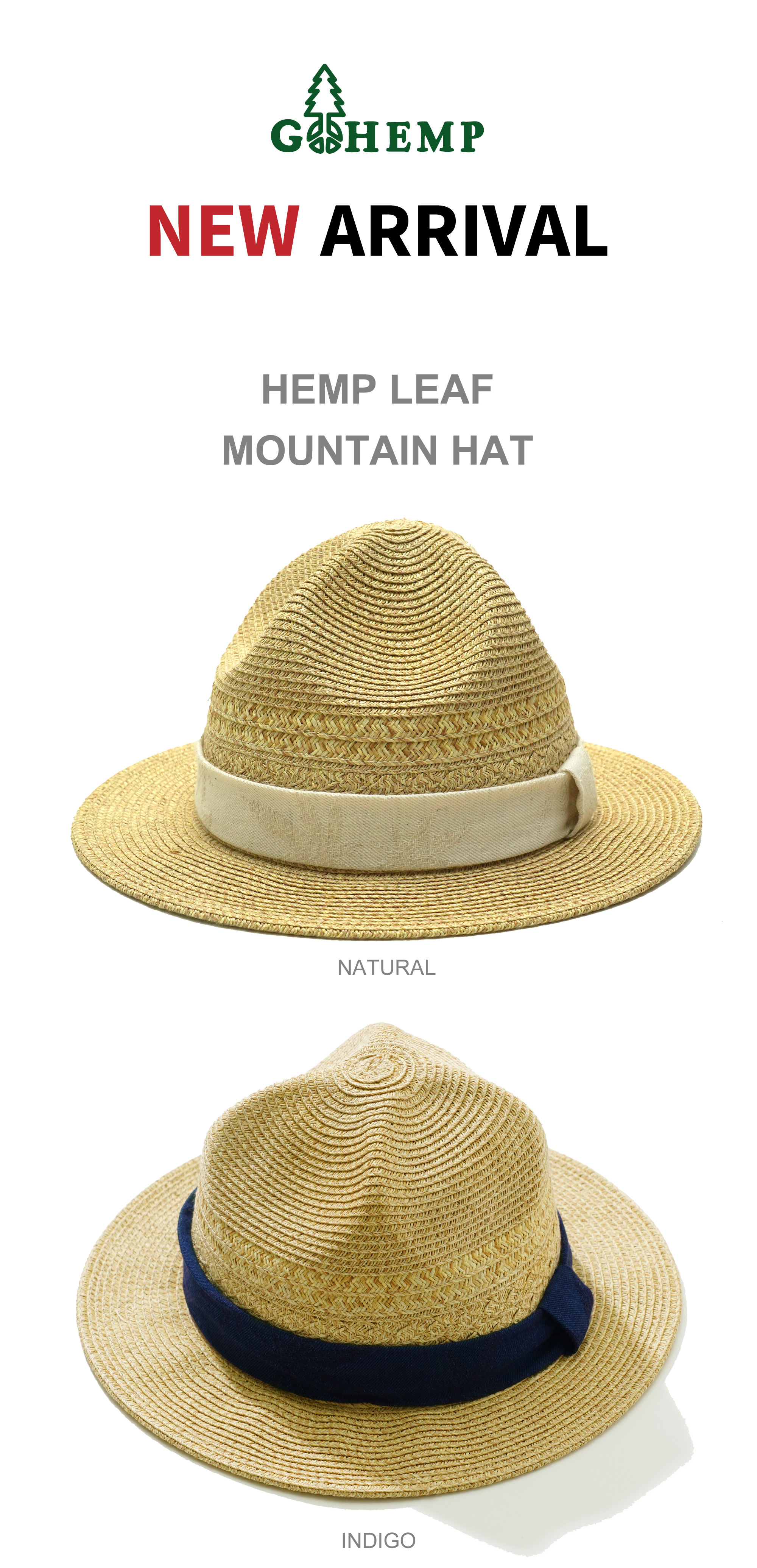 【GOHEMP】HEMP LEAF MOUNTAIN HATを入荷しました