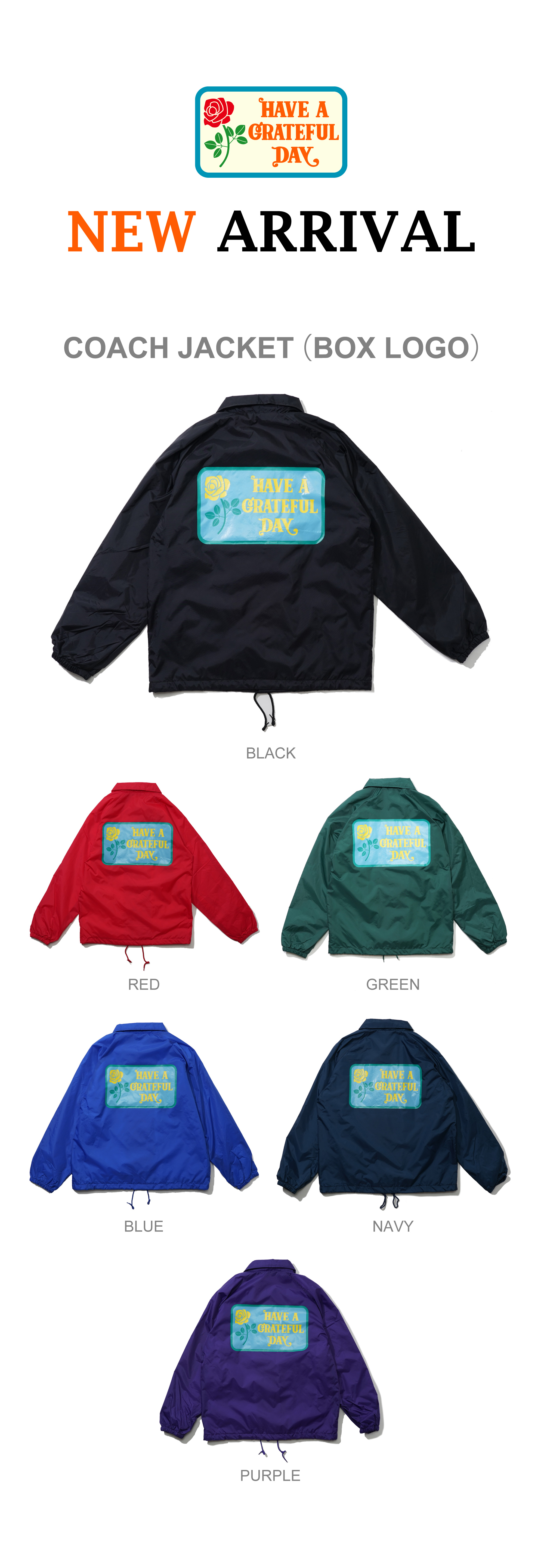【HAVE A GRATEFUL DAY】COACH JACKET を入荷しました