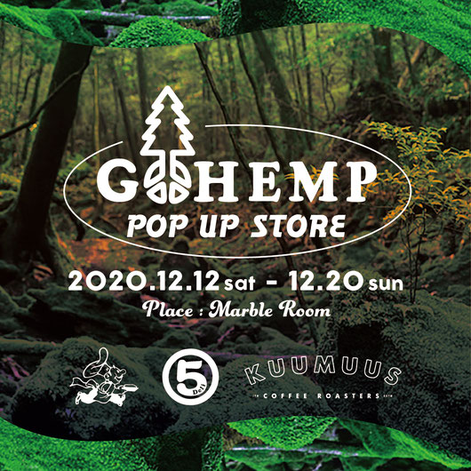 GOHEMP POP UP SHOP IN OKAYAMA