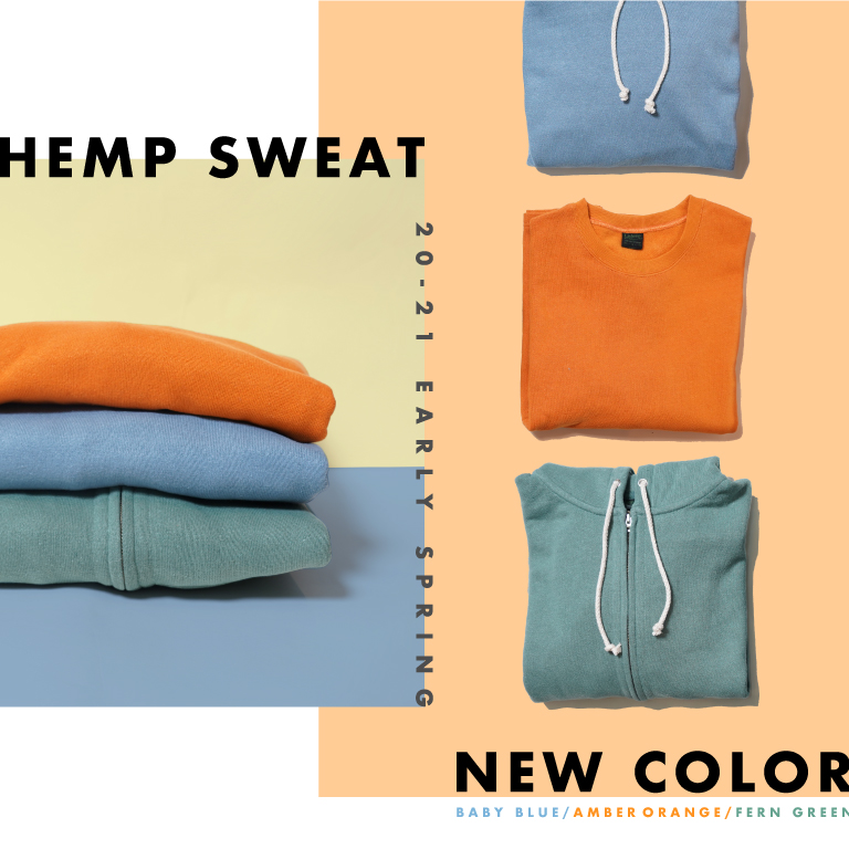 【GOHEMP】HEMP SWEAT を入荷しました